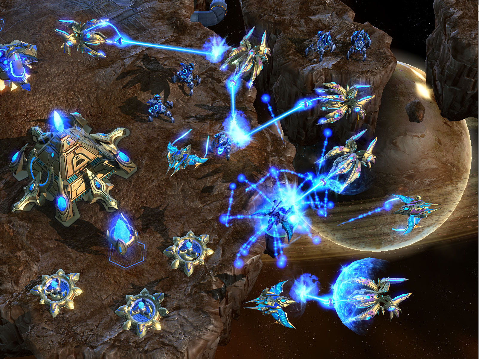 Starcraft II screenshots.
