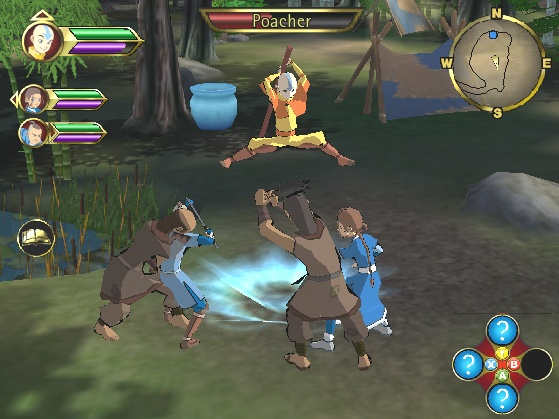 Screens Zimmer 8 angezeig: avatar the last airbender pc game