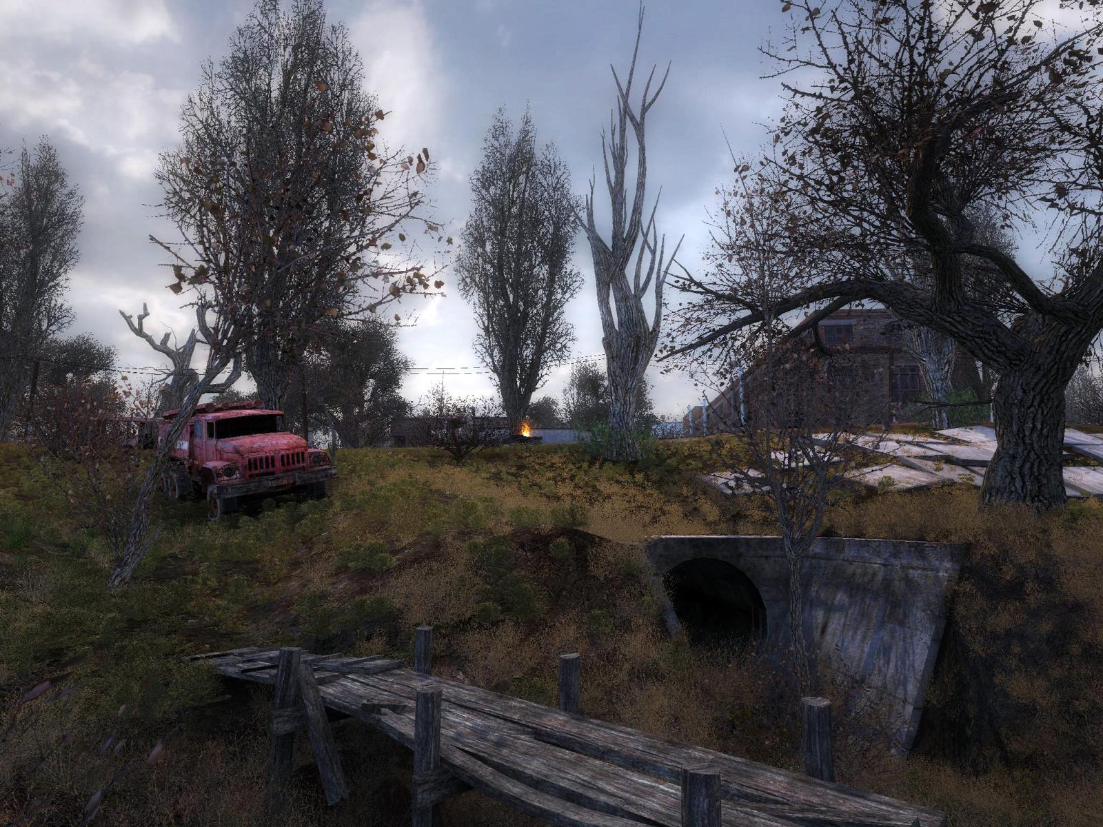 S.T.A.L.K.E.R. Shadow of Chernobyl пейзаж с элементами отечестве…